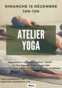 Atelier Yoga de Décembre à Océania Club Bayonne