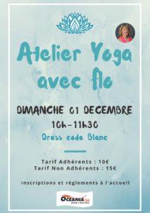 Atelier Yoga du mois de Décembre à Océania Club St Paul Lès Dax