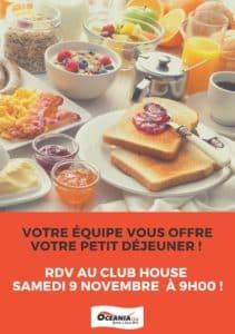 Petit déjeuner offert samedi à Océania Club St Pierre du Mont