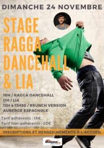 Stage de danse de Ragga Dancehall LIA de Novembre Océania Club Bayonne