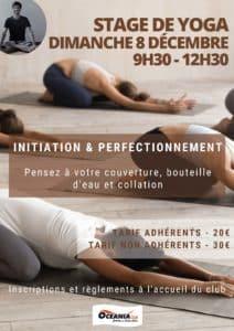 Stage de Yoga du mois de Décembre Océania Club St Pierre du Mont