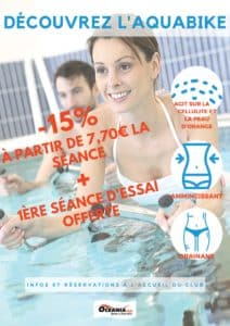 Offre Aquabike spéciale semaine Smart Training de Décembre à Océania Club Bayonne, Dax et Mont de Marsan