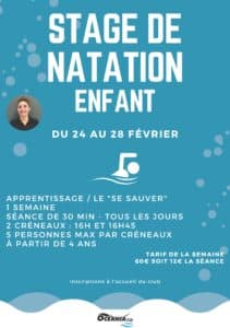 Stage de Natation Enfants à Océania Club Mont de Marsan